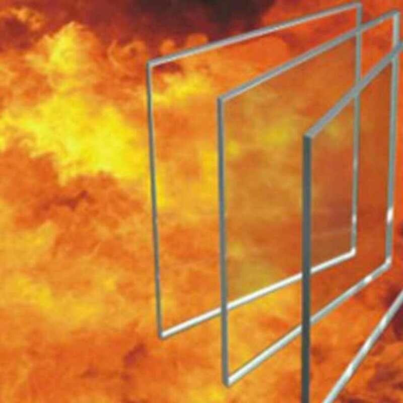 铯钾单片防火玻璃复合灌液隔热防火玻璃