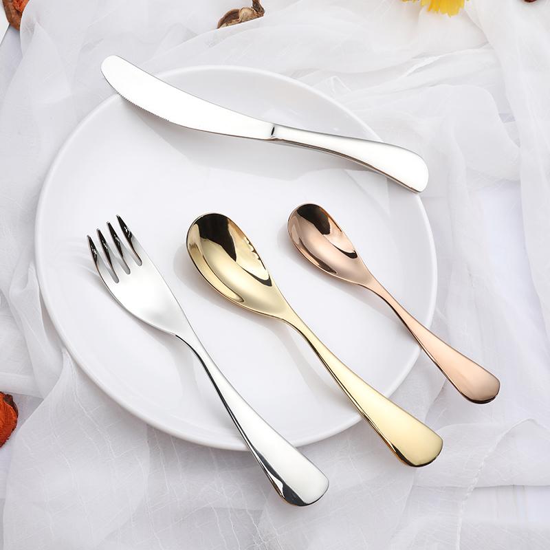 304不锈钢创意儿童餐具咖啡幼儿园小勺子西餐刀叉