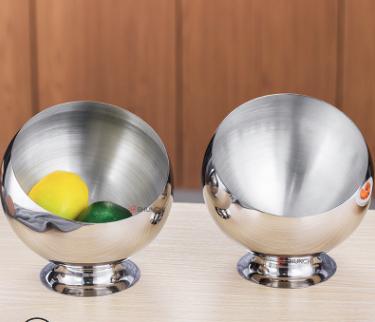 不锈钢斜口碗产地货源圆形酱料碗中式餐具自助餐厅火锅家用调料碗