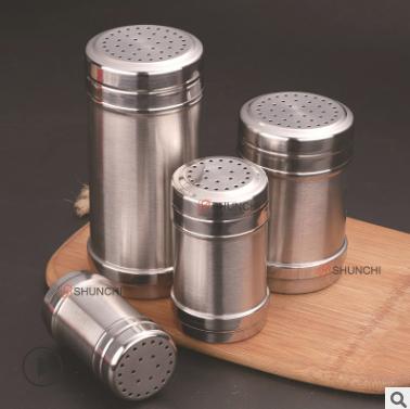 不锈钢调味盒调料罐牙签筒粉桶烧烤花椒胡椒罐胡椒瓶